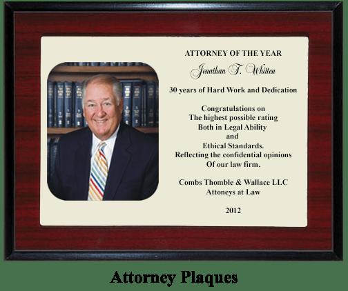 Attorney plaque