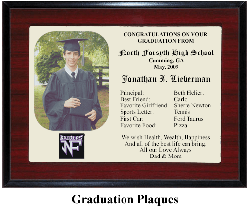 Graduation Gift Plaques