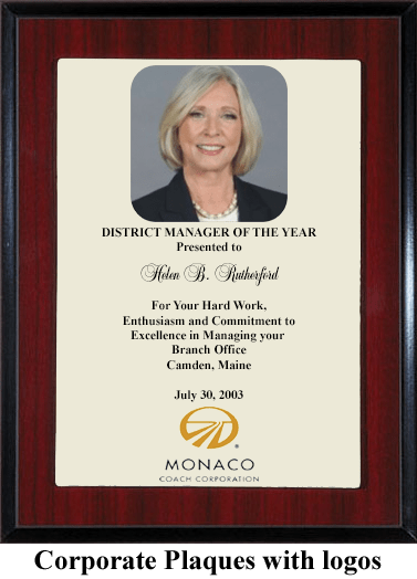 manager award gift plaque