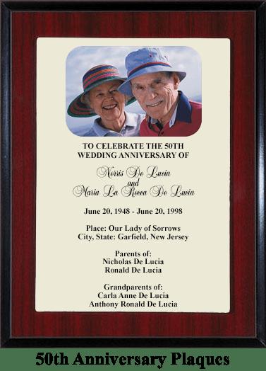 anniversary gift plaque