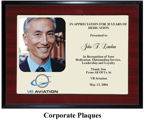 service dedication award plaque