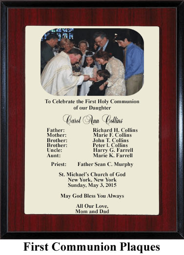 first communion daughter plaque
