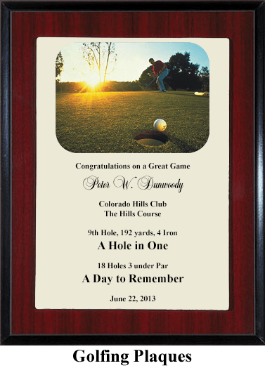 golf award plaque