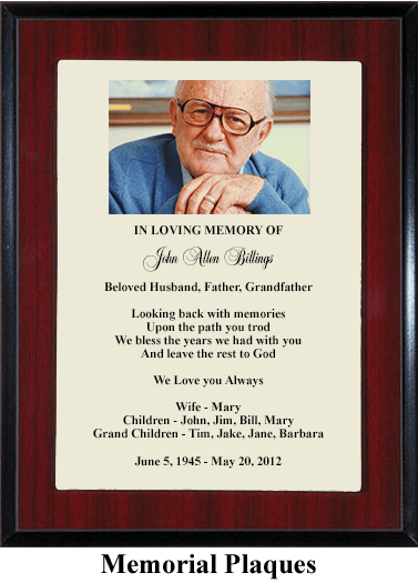 Grandfather Memorial Plaque