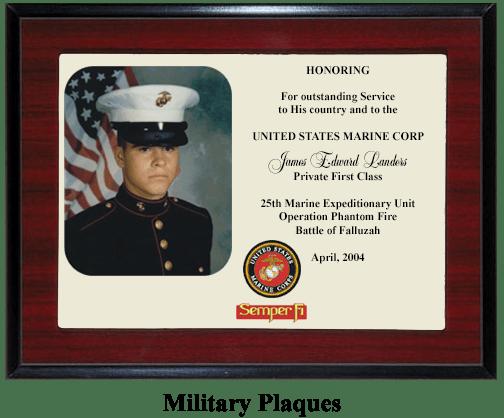 Marine Corp Semper Fi Plaque
