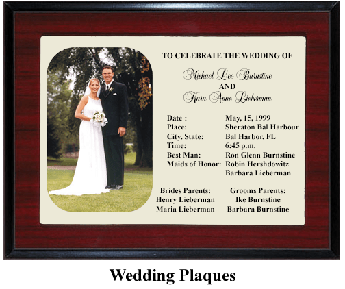 wedding gift plaque