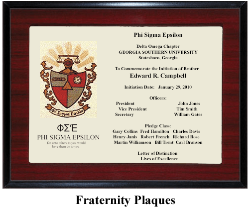Fraternity symbol plaque