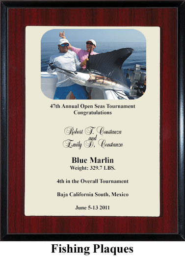 fishing tournament award plaque