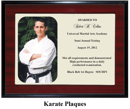karate martial arts plaque