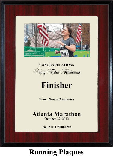 running marathon 5k 10k award plaque
