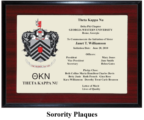 sorority symbol plaque