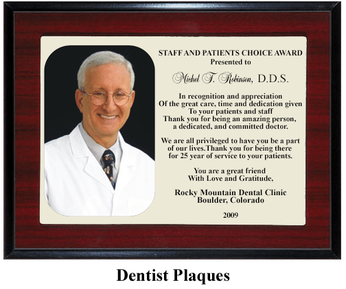 dentist plaque golden moments by rei. Black Bedroom Furniture Sets. Home Design Ideas